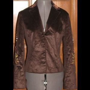 EVELYN artsy brown embroidered corduroy jacket 6